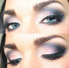 Makeup Smokey Eyes für blaue Augen   Mode