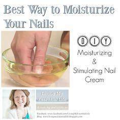 Best Way to Moisturize Your Nails & Cuticles | Moisturizing Nail Cream | Best Essential Oils For Health Nails | BLOG: http://livingmyessentiallife.blogspot.com | Nail Health | Strong Nails | Dry Brittle Nails | DIY Nail Treatments | #Myrrh #lavender #lemon #frankincense ##teatreeoil #geranium #melaleuca #LivingMyEssentialLife #OilLife #doTERRA
