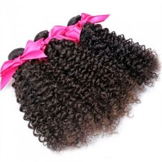 Our Curly extensions are full of body and bounce, but can also be worn straight when styled with a flat iron. Curly hair that gets straightened on a regular basis may become straighter over time. Hair regains its natural curl pattern when washed.   We only sell 100% Virgin Hair. We never process our hair. No matting, puffing, or tangling. Last 4-6 months to a year with proper care. Hair can be dyed and flat ironed.