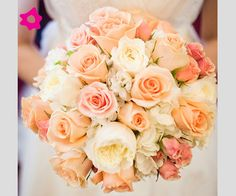Bouquet sposa con rose cipria