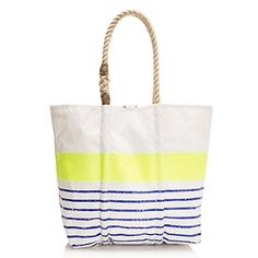 Cute beach bag from J Crew, but a bit pricey at $165.00.  (Sea Bags for J Crew)