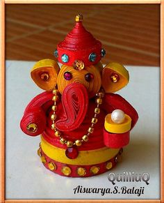Paper Quilled 3D Ganesha