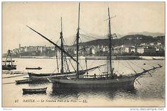 """Brick-goélette et tartane embossés à Bastia; bel effet de surimposition des gréements. Là encore, """"Tremolino"""" n'est pas loin."""