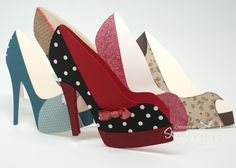 No date; Tanya Bell at 'Stamping T!' blog; High Heel Cards with link for template and YouTube video tutorial
