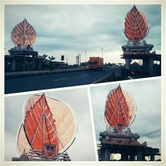 Eastern boundary monument Batang district central java Indonesia
