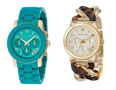 Michael Kors Watches one on the left. You already know I love that color