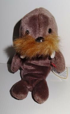 14c1ceeb661 Beanie Baby Walrus Jolly Ty Brown Taupe 1996 Mint DOB 12-2-1996 TH  Ty
