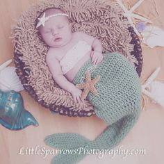 {Baby Kaili the Little Florida Mermaid} Little Sparrows Photography by Rachel Bradshaw West Palm Beach Newborn & Pregnancy Photography Pregnancy Photography, Sparrows, West Palm Beach, Mermaid, Crochet Hats, Florida, Kids Rugs, Baby, Knitting Hats
