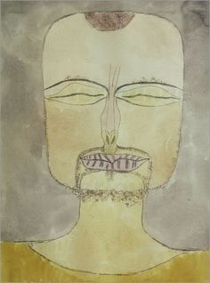 Paul Klee  Self-portrait My all time Klee-favourite !!!!!!!