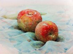 사과수채화 - Google 검색
