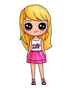 Stephanie from Lego Friends - Top 99 Pencil Drawings Kawaii Disney, Cute Disney, Kawaii Girl Drawings, Cute Girl Drawing, Arte Do Kawaii, Kawaii Art, Chibi Kawaii, Cute Easy Drawings, Cute Animal Drawings