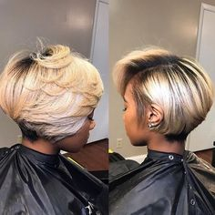 Bad bobs are always the move!lavishcurlsbo for Mink straight or Melanesian Blonde for ya sleek bob Short Hair Styles Easy, Short Hair Cuts, Medium Hair Styles, Natural Hair Styles, Easy Hairstyles For Medium Hair, Short Bob Hairstyles, Haircuts, Layered Bob Hairstyles For Black Women, Hairstyles 2018