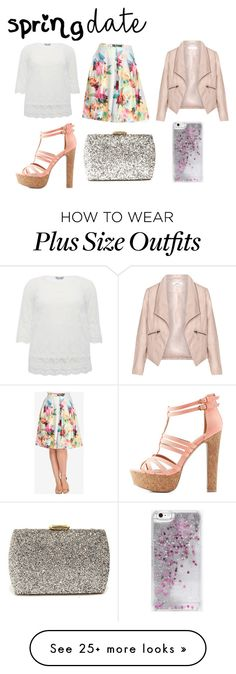 """Spring date"" by tigerlily789 on Polyvore featuring Zizzi, M&Co, City Chic, Charlotte Russe, Lulu*s and Skinnydip"