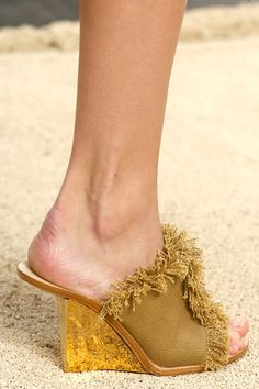 Chloé Spring Gold Wedge Sandal 2014 RTW Collection #Shoes #Wedges #Heels