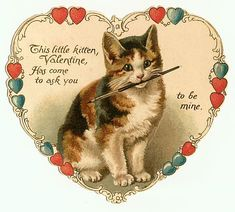 10 Bad Valentine's Day Poems Written By Cats Cat Valentine, My Funny Valentine, Valentines Day Poems, Valentine Images, Valentine Hearts, Victorian Valentines, Vintage Valentine Cards, Vintage Greeting Cards, Vintage Holiday