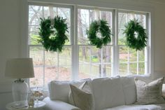 Wreaths on Windows