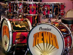 The late Keith Moon of the WHO...one of many custom sets.....