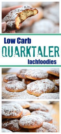 Süße Low Carb Quarktaler aus dem Ofen - Düşük karbonhidrat yemekleri - Las recetas más prácticas y fáciles Menu Dieta Paleo, Paleo Postre, Low Carb Sweets, Low Carb Desserts, Low Carb Recipes, Dessert Oreo, Paleo Dessert, Law Carb, Low Carb Biscuit
