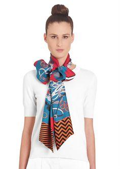 ccd73fceb661 Maxi-twilly Hermès   Bouquets Sellier Bufandas, Cómo Usar Bufandas, Arco De  Blusa