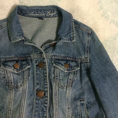New American Eagle Jean Jacket New American Eagle Jean Jacket. Worn maybe twice. Size medium. Super cute! Perfect to wear over a dress! American Eagle Outfitters Jackets & Coats Jean Jackets