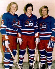 Anders Hedberg, Ulf Nilsson, and Bobby Hull - Winnipeg Jets Hockey Room, Women's Hockey, Ice Hockey Teams, Blackhawks Hockey, Hockey Cards, Hockey Players, Baseball, Nhl, Quebec Nordiques
