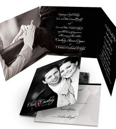 Classy trifold photo wedding invitation - Purchase this deposit to get started.