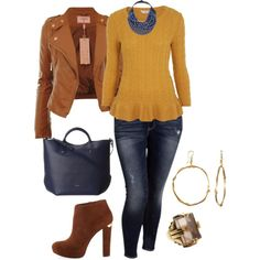 easy fall/winter plus size look 2, created by kristie-payne on Polyvore