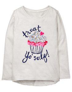New//NWT Gymboree Polar Pink Girls Ski Penguin Gem /& Embroidery Long Sleeve Tee