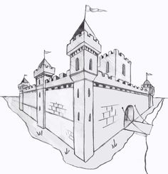 Architecture Drawing Discover Perspective 101 Two Point Drawing Linear Perspective Drawing, 2 Point Perspective Drawing, Perspective Art, 3d Drawings, Amazing Drawings, Simple Drawings, Castle Drawing, Architecture Sketchbook, Interior Architecture