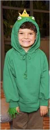 Toddler costumes DIY frog / frog prince hoodie costume.  sc 1 st  Pinterest & HOW TO: Make an Easy Eco-Friendly Frog Halloween Costume... | Lil ...