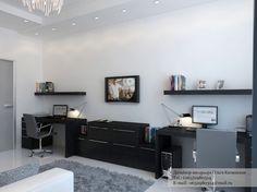 Black Desk Twin Office