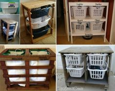Pallet Laundry Dresser