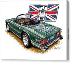 Triumph British Racing Green Canvas Print by David Kyte Triumph 2000, Triumph Tr3, Triumph Motorcycles, British Sports Cars, British Car, Car Posters, Automotive Art, Sport Cars, Exotic Cars
