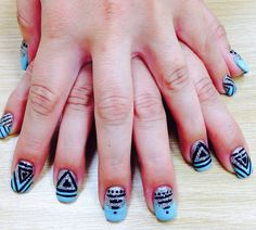 Okc thunder nail design nail designs pinterest prinsesfo Image collections