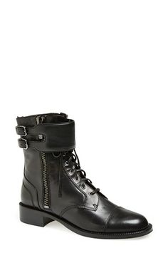 Via Spiga 'Bindu' Military Lace-Up Bootie (Women) available at #Nordstrom