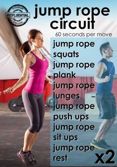 10 Week Workout Plan blast fat and calories with this jump rope circuit workout from FitFluential 10 Week Workout Plan, Weekly Workout Plans, Friday Workout, Workout Schedule, Lower Ab Workouts, Easy Workouts, At Home Workouts, Jump Rope Workout, Butt Workout