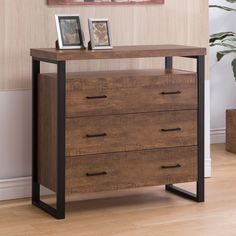 Coaster CS762 Industrial Style Accent Cabinet