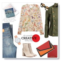 """""""Creative ."""" by gul07 ❤ liked on Polyvore featuring Citizens of Humanity, Wall Pops!, RED Valentino, Ida Sjöstedt, WALL, Gianvito Rossi, MICHAEL Michael Kors, Emmanuelle Khanh and âme moi"""
