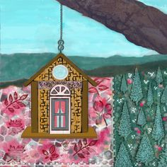 Peace Haven - mixed media - novembre 2020 Gazebo, Mixed Media, Outdoor Structures, Peace, Home Decor, Paint, Drawing Drawing, Canvases, Kiosk