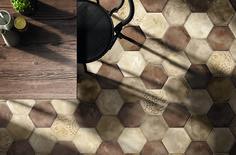 Hexagonal Tiles in Interior Design: History & Examples 2018 Interior Design Trends, Modern Interior Design, Floor Ceiling, Wall And Floor Tiles, Wall Tiles, Porcelain Tile, Porcelain Ceramics, Tiles For Less, Tile Suppliers