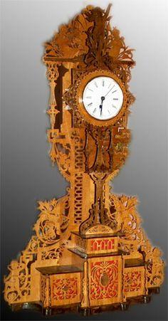 The Mantova clock, scroll saw fretwork pattern