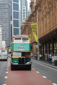 the old sydney double decker bus ...