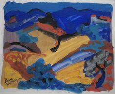 Pierre AMBROGIANI (1907-1985) - Paysage de montagne