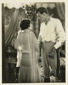 Gary Cooper and Evelyn Brent in Beau Sabreur directed by John Waters, 1928