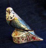 ROYAL CROWN DERBY SKY BLUE BUDGERIGAR PAPERWEIGHT - £56 - Listed by Sell it socially     GLDI9097    has been published on Sell it Socially