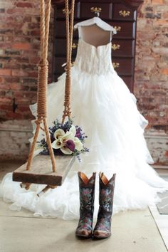 Rustic Wedding. Our favorite Old Gringo Bonnie Boots...the perfect pretty cowgirl boots for a bride at Boot Star Online https://www.bootstaronline.com/old-gringo/old-gringo-bonnie-womens-boots-brass-l6491-210