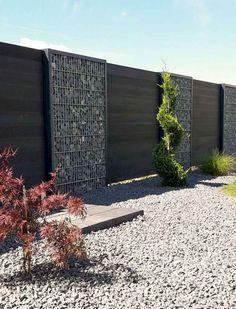 43 Gorgeous Gabion Fence Design for Garden Ideas - Decoradeas