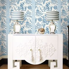 Brian Yates Chinoiserie CH71802. Roomset shown in same or different colourway.