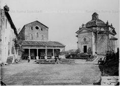 San Paolo alle Tre Fontane 1864/1879 Old Photographs, Old Photos, Oriental, Ancient Rome, Italy, Paris, Landscape, History, Antiques