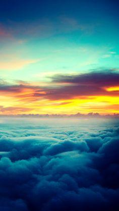 awesome 早朝の雲海 iPhone5 スマホ用壁紙